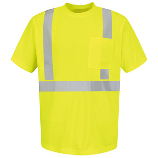 Red Kap High Visibility Short Sleeve T-Shirt  - Type R, Class 2 - Click for Large View