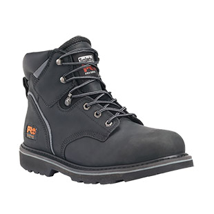 Timberland PRO Pit Boss 6 Inch Steel Toe Black Work Boot - Click for Large View