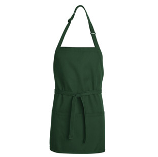 Bib Aprons - Short Length with Pockets (12 Pack - $6.75 ea) - Click for Large View
