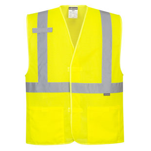Portwest Economy Hi-Visibility Mesh Vest - Type R, Class 2 - Click for Large View