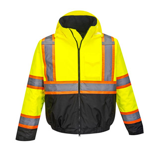 Portwest Hi-Vis Contrast Tape Bomber Jacket - Type R, Class 3 - Click for Large View