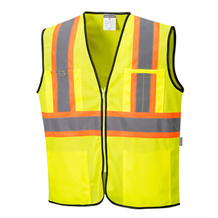 Portwest Frisco Hi Vis Contrast Vest - Type R, Class 2 - Click for Large View
