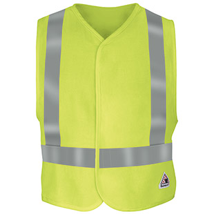 Bulwark Flame Resistant Hi-Visibility Safety Vest CAT 2 - Click for Large View