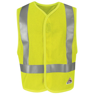 Bulwark Flame Resistant Hi Visibility Mesh Safety Vest - Click for Large View