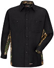 Wrangler Workwear Long Sleeve Camo Work Shirt