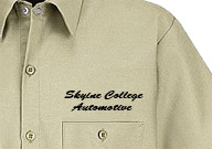 1. Direct Text  Embroidery - $5.95  1st Line, $2.00 2nd Line, & $1.00 3rd line per area
