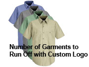 5. Custom Logo - STEP 2 - Run Off Charge To Add Your Logo The Garment