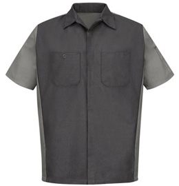 Red Kap Men's Short Sleeve Mechanics Crew Shirt