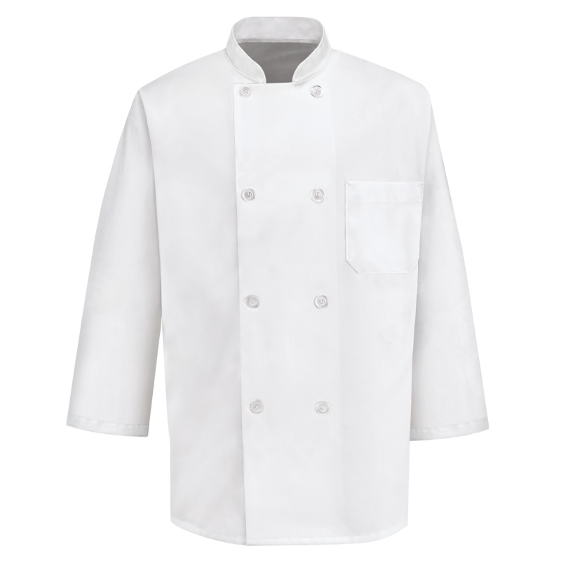 458a488f1 Chef Designs 8 Button 3/4 Length Sleeve Chef Coat