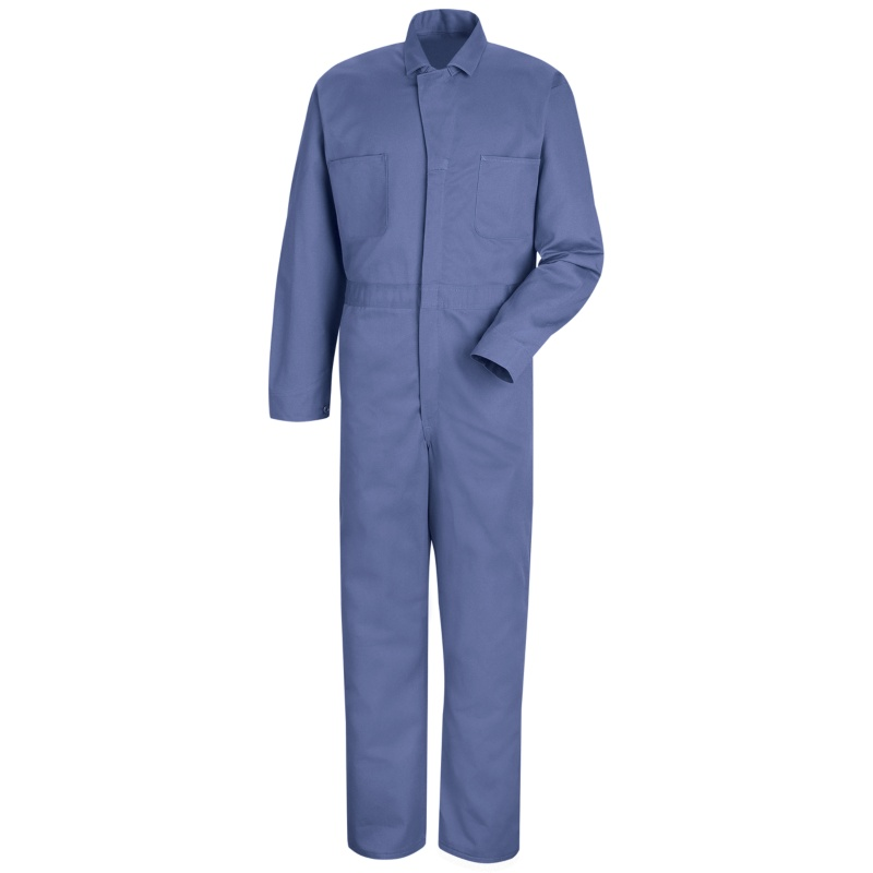 Red Kap Men S Button Front Cotton Coveralls 4 Color