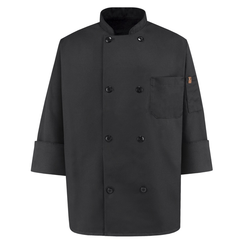 Chef Designs Black Traditional Chef Coats | KT76BK