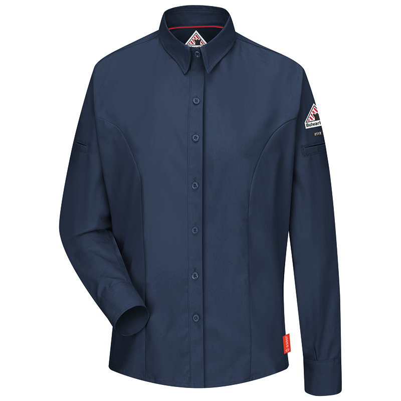 Bulwark flame resistant iq series women 39 s shirt qs31 for Bulwark flame resistant shirts
