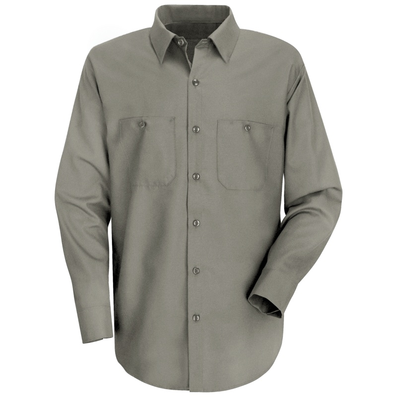 Red Kap Men's Wrinkle Resistant 100% Cotton Long Sleeve Work Shirt ...