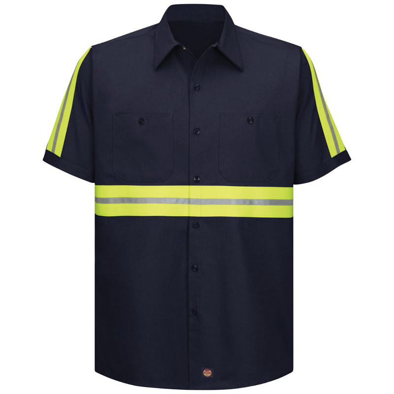 e4d6e0d0 Red Kap Enhanced Visibility Cotton S/S Work Shirt - Click for Large View.  Enlarge