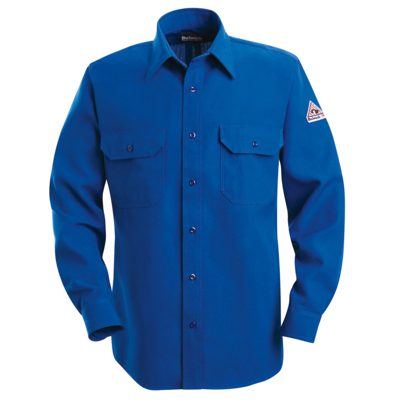 7ad7721f4f2f Bulwark Nomex IIIA Flame Resistant 6 oz. Button Front Deluxe Shirt ...