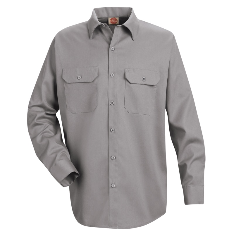 Red Kap Men S Utility Long Sleeve Work Shirt St52
